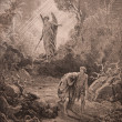 Expulsion of Adam and Eve from Paradise. Holy Bible — Stock Photo