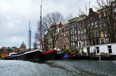 Amsterdam canal view — Stock Photo