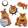 Royalty-Free Stock Vector Image: Set of Bulldog cartoons