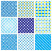 Set of seamless patterns with fabric checked textures — Stockvector