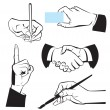 Hands - different gestures. — Stock Vector