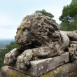 Stone sculpture of a lion.  Majorca island in Balearic Spain — Stock fotografie
