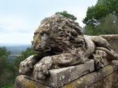 Stone sculpture of a lion. Majorca island in Balearic Spain — Stock Photo