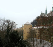 Old castle in Prague. Winter time — Stock Photo