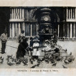 "Stock Photo: ITALY - CIRC1910: picture printed in Italy shows image of Saint Marco Piazza, Vintage postcards ""Italy"" series, circ1910"