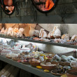 Detail image from a greek touristic shop with shells — Stockfoto
