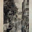 "Stock Photo: ITALY - CIRC1910: picture printed in Italy shows image of Palazzo VAxel in Venice, Vintage postcards ""Italy"" series, circ1910"