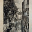 "ITALY - CIRCA 1910: A picture printed in Italy shows image of Palazzo Van Axel in Venice, Vintage postcards ""Italy"" series, circa 1910 — Stock Photo"