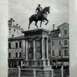 "ITALY - CIRCA 1910: A picture printed in Italy shows image of Monumento a Colleoni in Venice, Vintage postcards ""Italy"" series, circa 1910 — Stock Photo #9423891"
