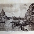 "ITALY - CIRCA 1910: A picture printed in Italy shows image of Grand Canal con la Chiesa della Salute in Venice, Vintage postcards ""Italy"" series, circa 1910 - Zdjęcie stockowe"