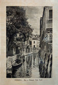 """ITALY - CIRCA 1910: A picture printed in Italy shows image of Palazzo Van Axel in Venice, Vintage postcards """"Italy"""" series, circa 1910 — Stock Photo"""
