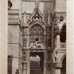 "ITALY - CIRCA 1910: A picture printed in Italy shows image of Porta della Carta, Vintage postcards ""Italy"" series, circa 1910 — Stock Photo"