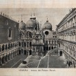 "ITALY - CIRCA 1910: A picture printed in Italy shows image of Palazzo Ducale in Venice, Vintage postcards ""Italy"" series, circa 1910 — Stock fotografie"