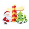 Santa_holiday - Stock Vector
