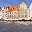 Market square, Wroclaw, Poland - Stock Photo