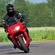 Man on a motorcycle - Stockfoto