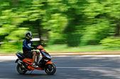 Hombre en una motocicleta — Foto de Stock