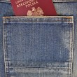 Passport in your pocket - Stock Photo