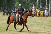 Knight on horseback — Stock Photo