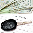 Car sales contract - Stock Photo