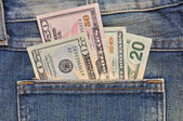 Cash in your pocket — Stock Photo