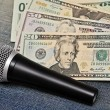 Microphone and cash - Lizenzfreies Foto