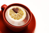 Limone con cuore all'interno — Foto Stock