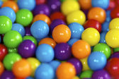 Brightly colored candy balls — Stock Photo