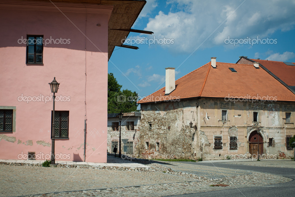 Old buildings in Poprad, Slovakia — Stock Photo #8300830