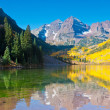Maroon Bells-Reflection — Stok fotoğraf