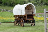 Old covered wagon — 图库照片