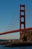 Most golden gate těsně po východu slunce — Stock fotografie
