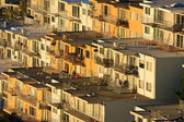 Rows of houses on hill — Stock Photo