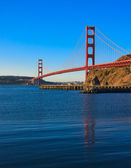 Golden Gate Bridge just after sunrise — Stock Photo