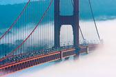 San Francisco Golden Gate Bridge in fog — Stock Photo