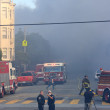 San Francisco - houses on fire — Stock Photo