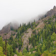 Mountains and fog — Stockfoto