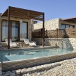 Tourist hotel in Negev desert, Israel. — Stock Photo