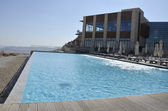 Tourist hotel in Negev desert. — Stock Photo