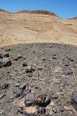 Cratere di ramon nel deserto del negev. — Foto Stock