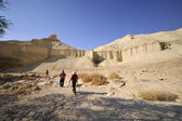 Wadi Zohar trek in Judea desert. — Stock Photo