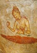 Rock paintings in Sri Lanka — Stock Photo