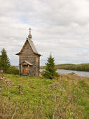 Wooden Orthodox chapel — Stock Photo
