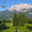 Chairlift in summer in Italy. Ski lift — Stock Photo