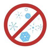 Ingen snö-symbol — Stockfoto