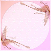 Pink wings letter background — Stock Photo