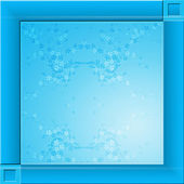 Blue square background — Stock Photo