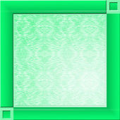 Green square background — Stock Photo