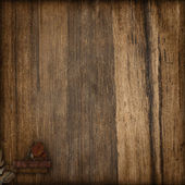 Brown flower and wood background — Stock Photo
