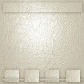 Beige-white Leather with borders — Stock Photo